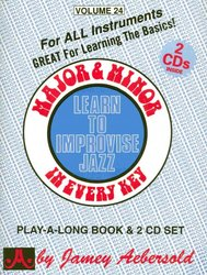 JAMEY AEBERSOLD JAZZ, INC AEBERSOLD PLAY ALONG 24 - MAJOR&MINOR IN EVERY KEY + CD