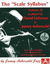 AEBERSOLD PLAY ALONG 26 - THE SCALE SYLLABUS + 2x CD