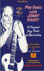 AEBERSOLD PLAY ALONG 29 - PLAY JAZZ DUETS with Jimmy RANEY + CD