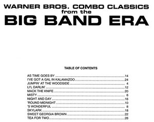 WB COMBO CLASSICS - BIG BAND ERA / Bb instrument trio