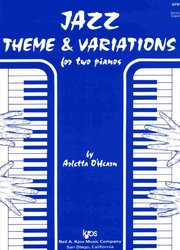 JAZZ THEME & VARIATIONS for two pianos - 2 pianos 4 hands