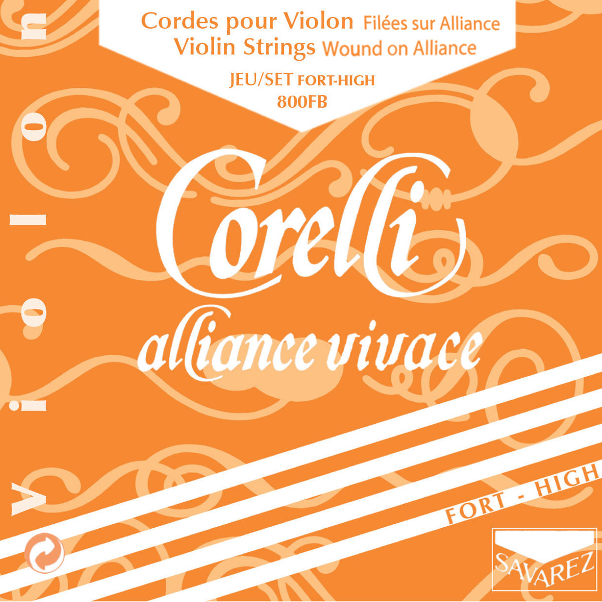 Savarez Corelli Alliance vivace - FORT HIGH,  sada strun pro housle