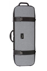 BAM Cases Grey Flannel Hightech Oblong - Violový kufr bez kapsy, šedý flanel 5201GF