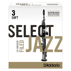 D'Addario Select Jazz Filed plátek pro sopran saxofon tvrdost 3S
