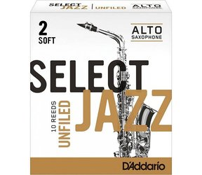 D'Addario Select Jazz Unfiled plátek pro alt saxofon tvrdost 2S