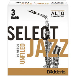 D'Addario Select Jazz Unfiled plátek pro alt saxofon tvrdost 3H