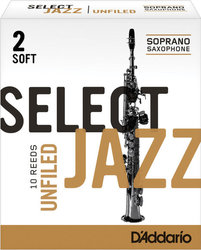 D'Addario Select Jazz Unfiled plátek pro sopran saxofon tvrdost 2S