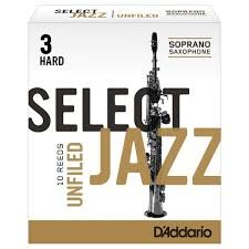 D'Addario Select Jazz Unfiled plátek pro sopran saxofon tvrdost 3H