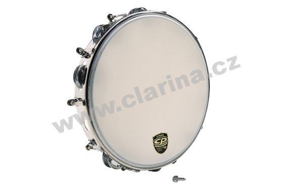 "Latin Percussion Tamburina 10"", Tunable Metal Tambourine"