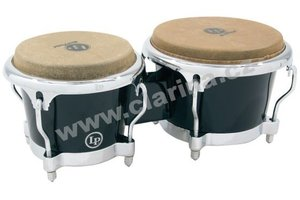 Latin Percussion Fiberglass Bongos LP 200XF-BK
