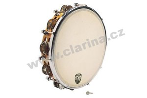 "Latin Percussion Tamburina 10"", Tunable Wood Tambourine"