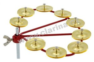 Latin Percussion Tamburina, Cyclops® Jingle Ring - Brass