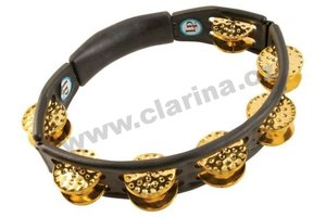 Latin Percussion Tamburina, Cyclops® Dimpled Jingle Tambourine - Brass